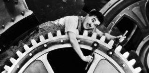 شرح شغل وظیفه محور در عصر جدید چارلی چاپلین