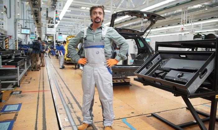 ریچارد هموند در کارخانه اتومبیل فولکس